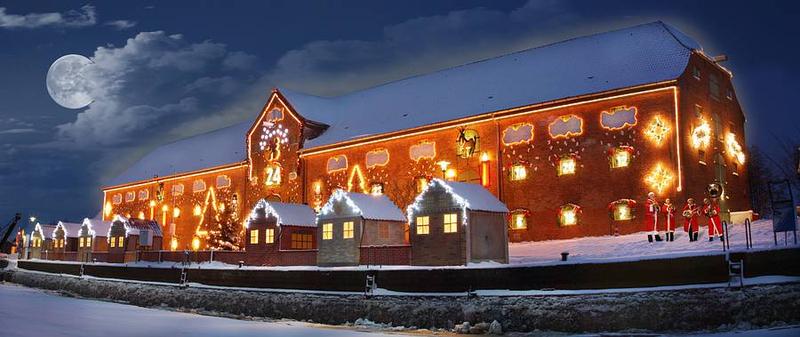 Packhaus als Weihnachtsereignis und längster Adventskalender Ferienwohnung Hass Tönning
