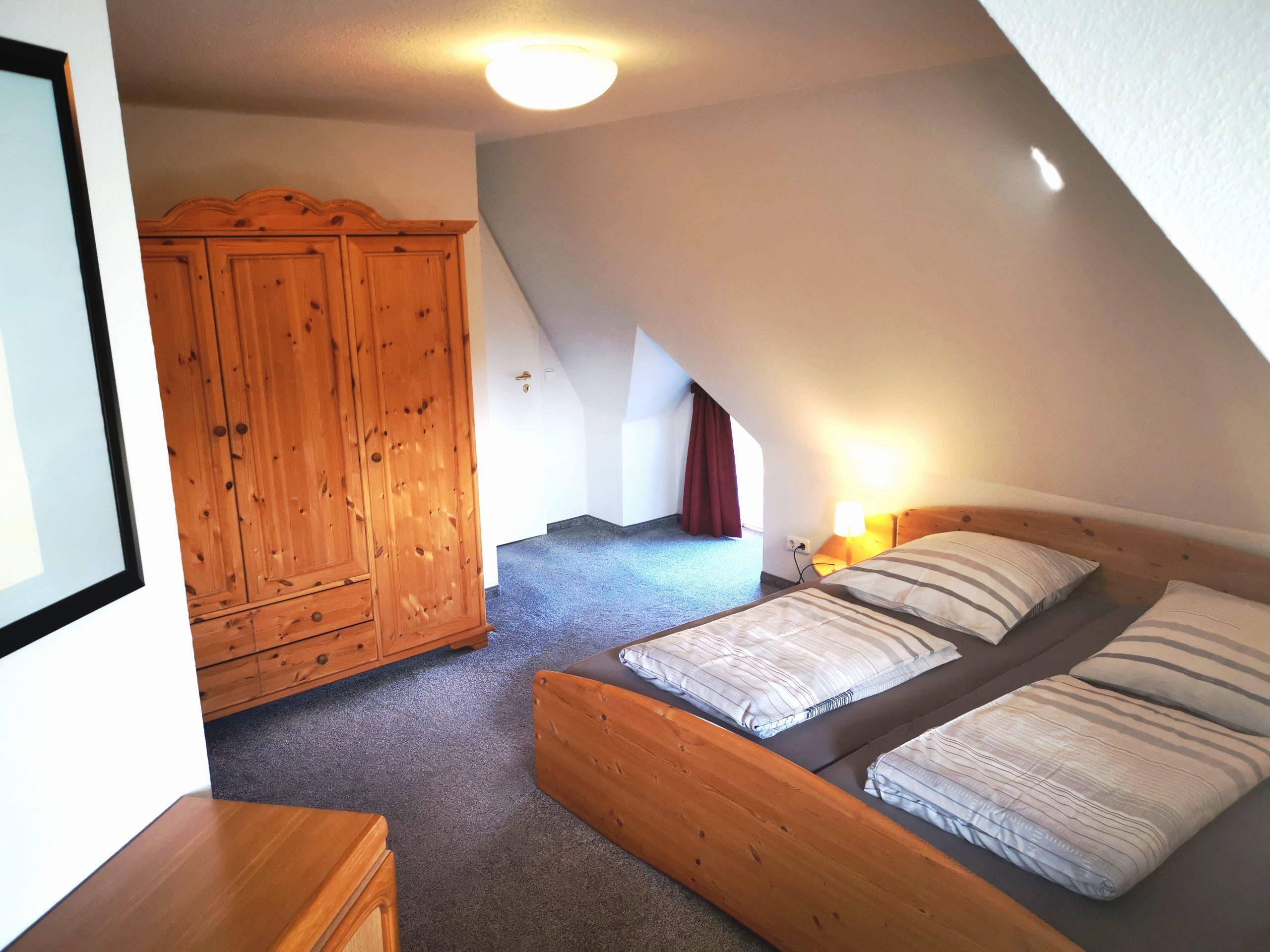 Schlafzimmer Reethaus Ferienwohnung Hass Tönning