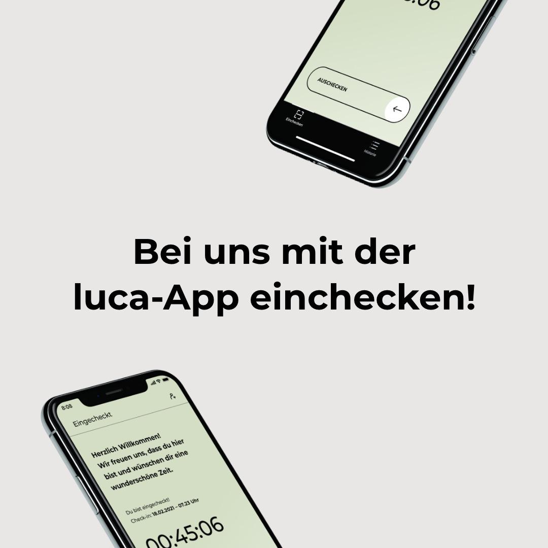Wir nutzen die luca-App