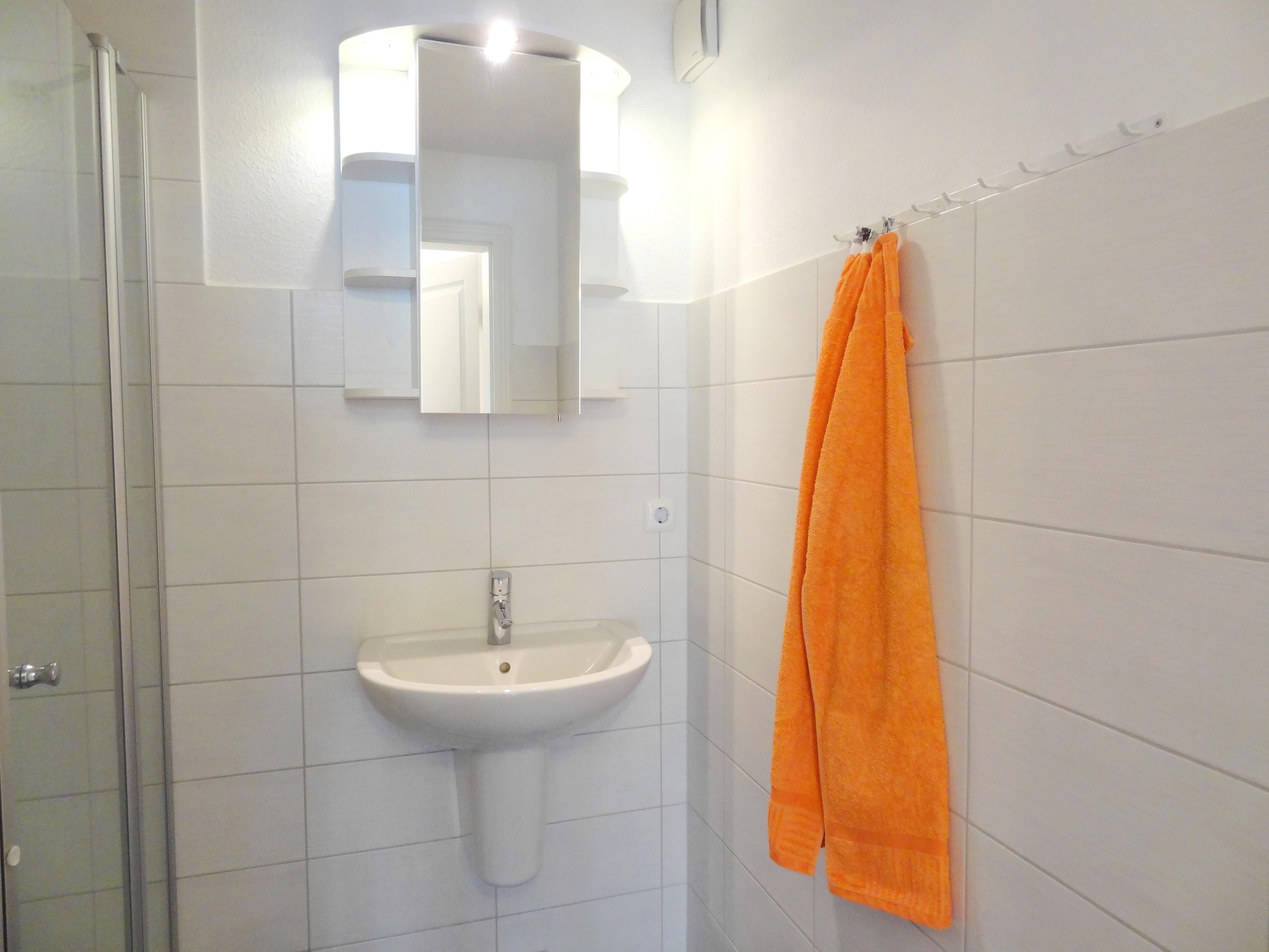 Badezimmer der Ferienwohnung Kiel von Ferienwohnungen Hass auf Fehmarn