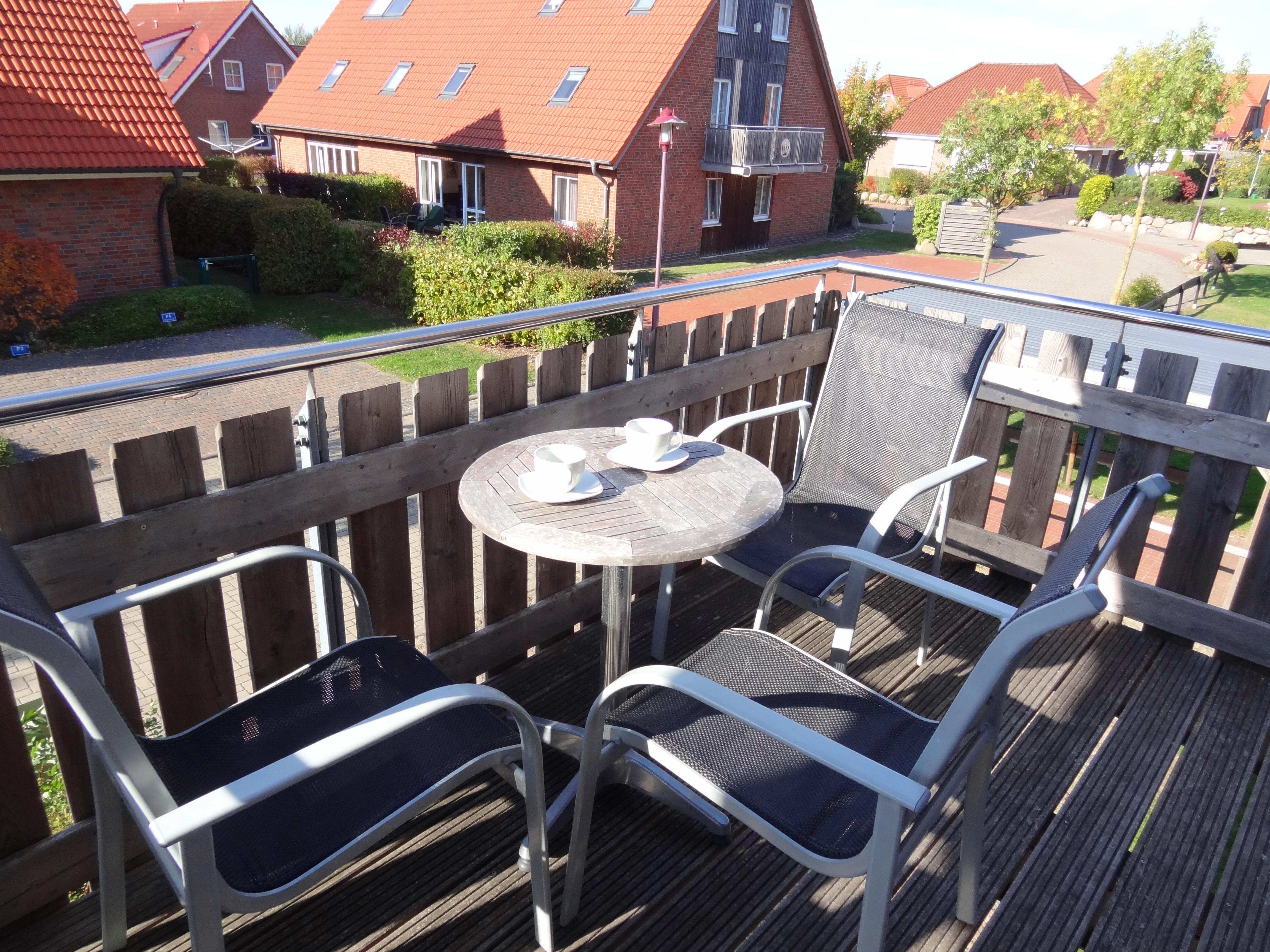 Balkon der Ferienwohnung Schwerin von Ferienwohnungen Hass auf Fehmarn