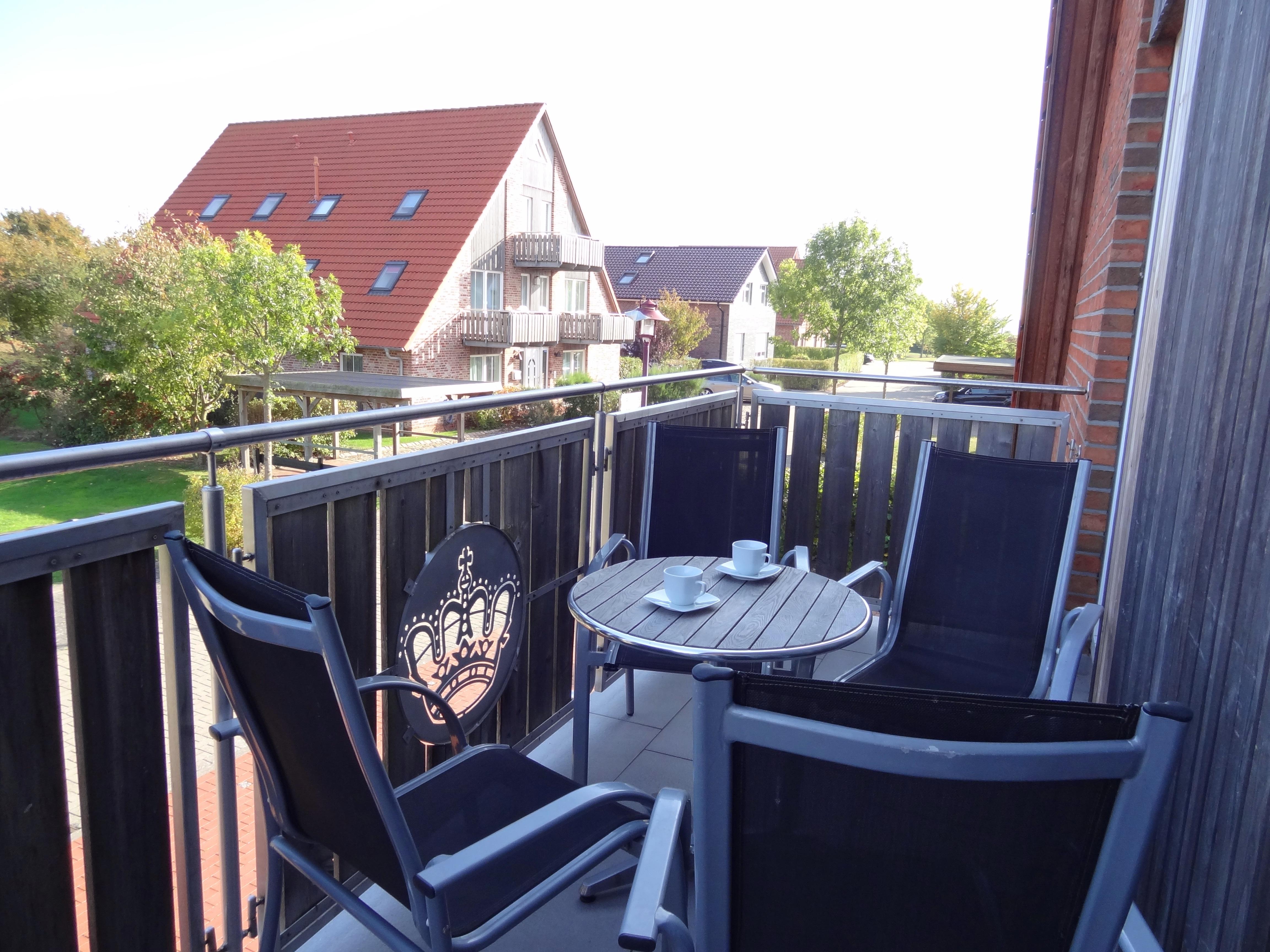 Balkon der Ferienwohnung Fehmarn von Ferienwohnungen Hass auf Fehmarn