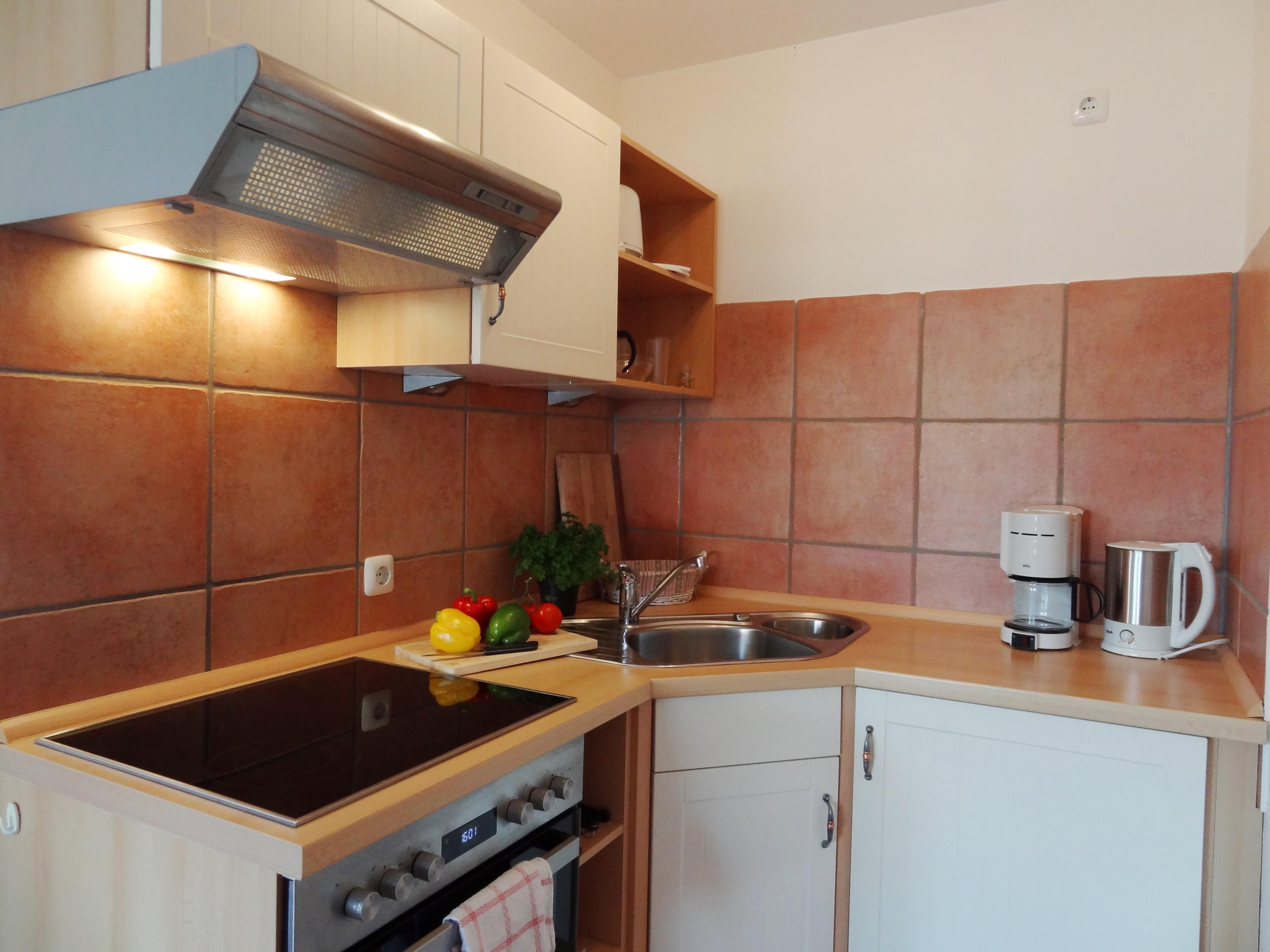 Küche der Ferienwohnung Brandenburg von Ferienwohnungen Hass auf Fehmarn