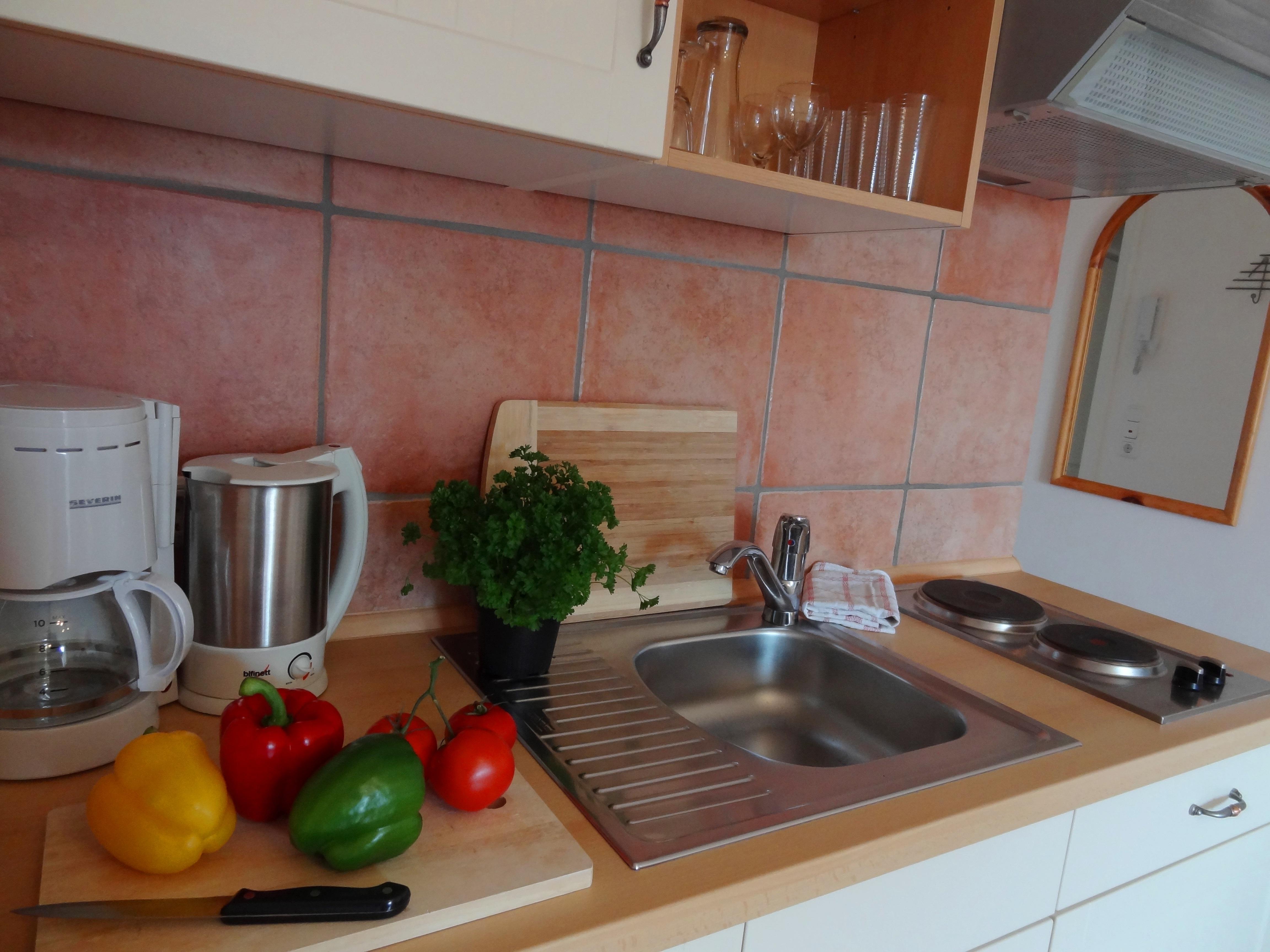 Küche der Ferienwohnung Gilge von Ferienwohnungen Hass auf Fehmarn