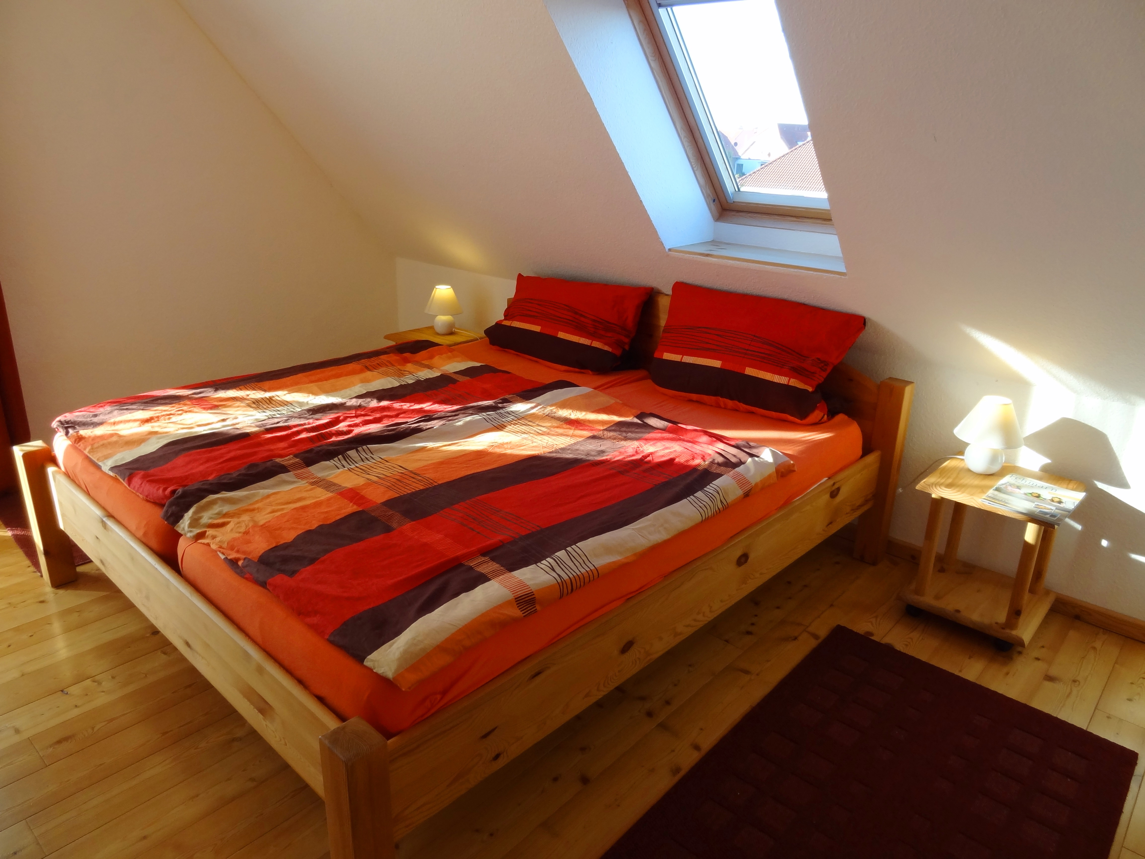 Erstes Schlafzimmer der Ferienwohnung Studio Seeblick von Ferienwohnungen Hass auf Fehmarn
