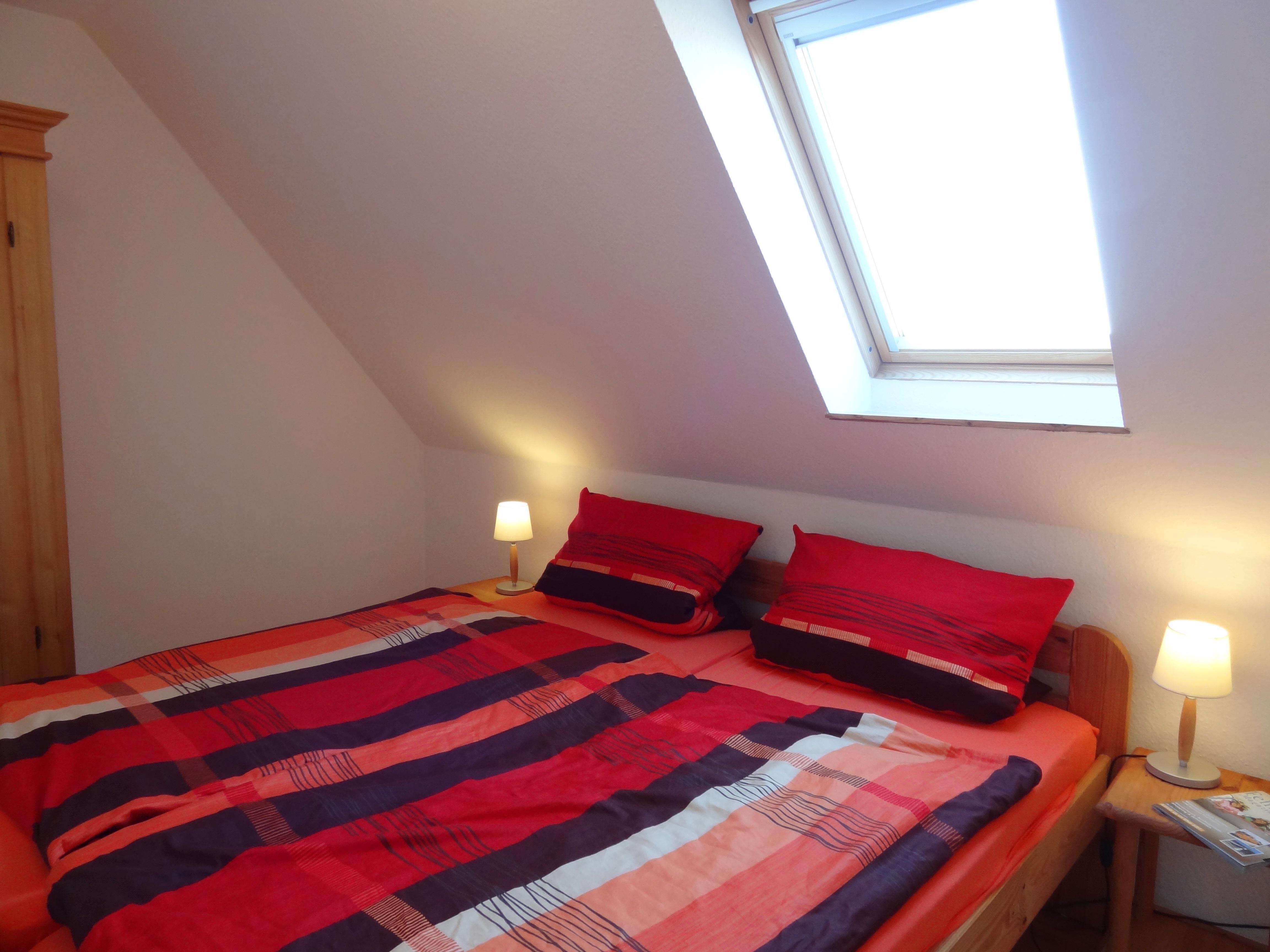 Zweites Schlafzimmer der Ferienwohnung Fehmarn von Ferienwohnungen Hass auf Fehmarn