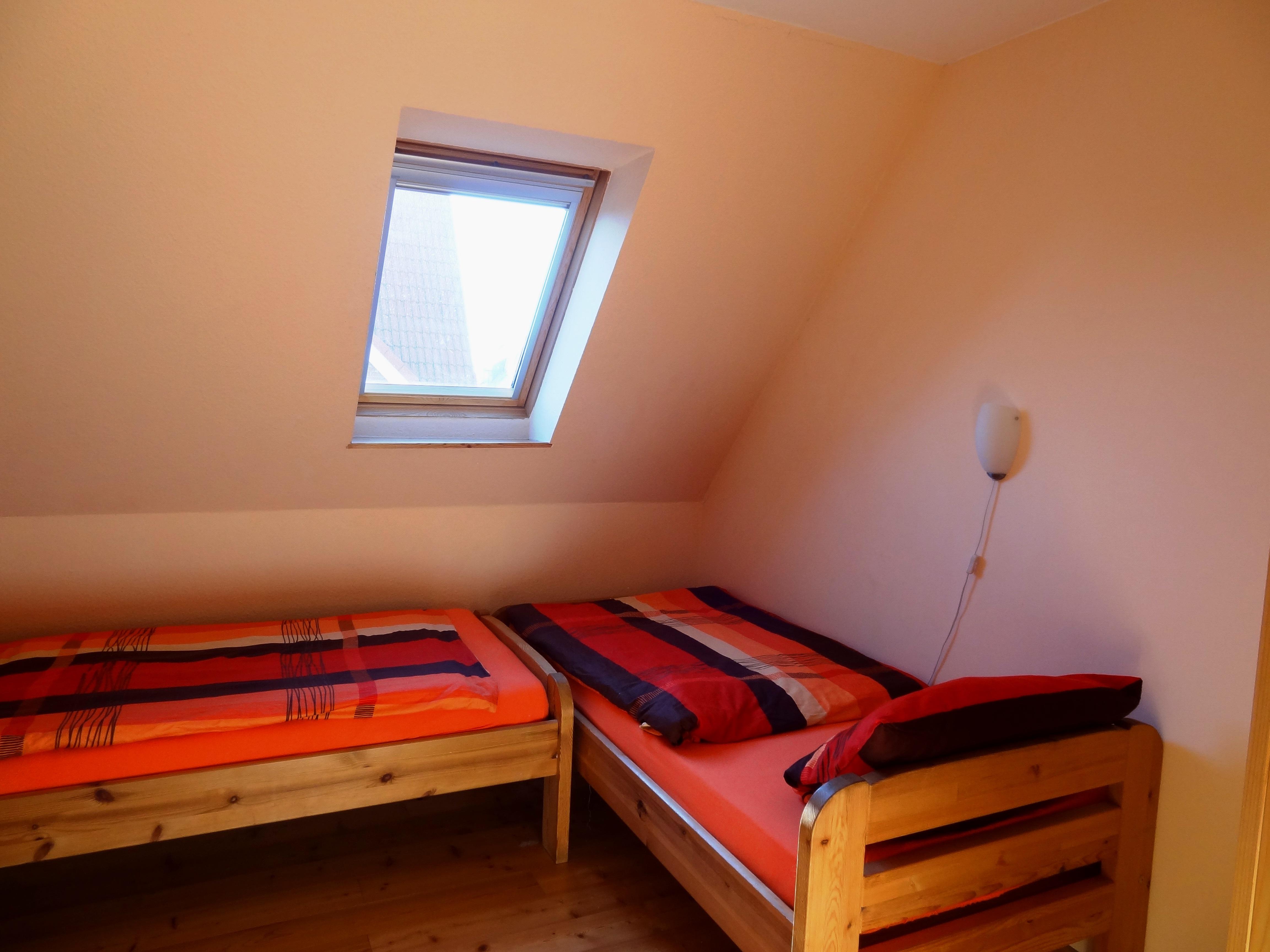 Zweites Schlafzimmer der Ferienwohnung Markt Schwaben von Ferienwohnungen Hass auf Fehmarn
