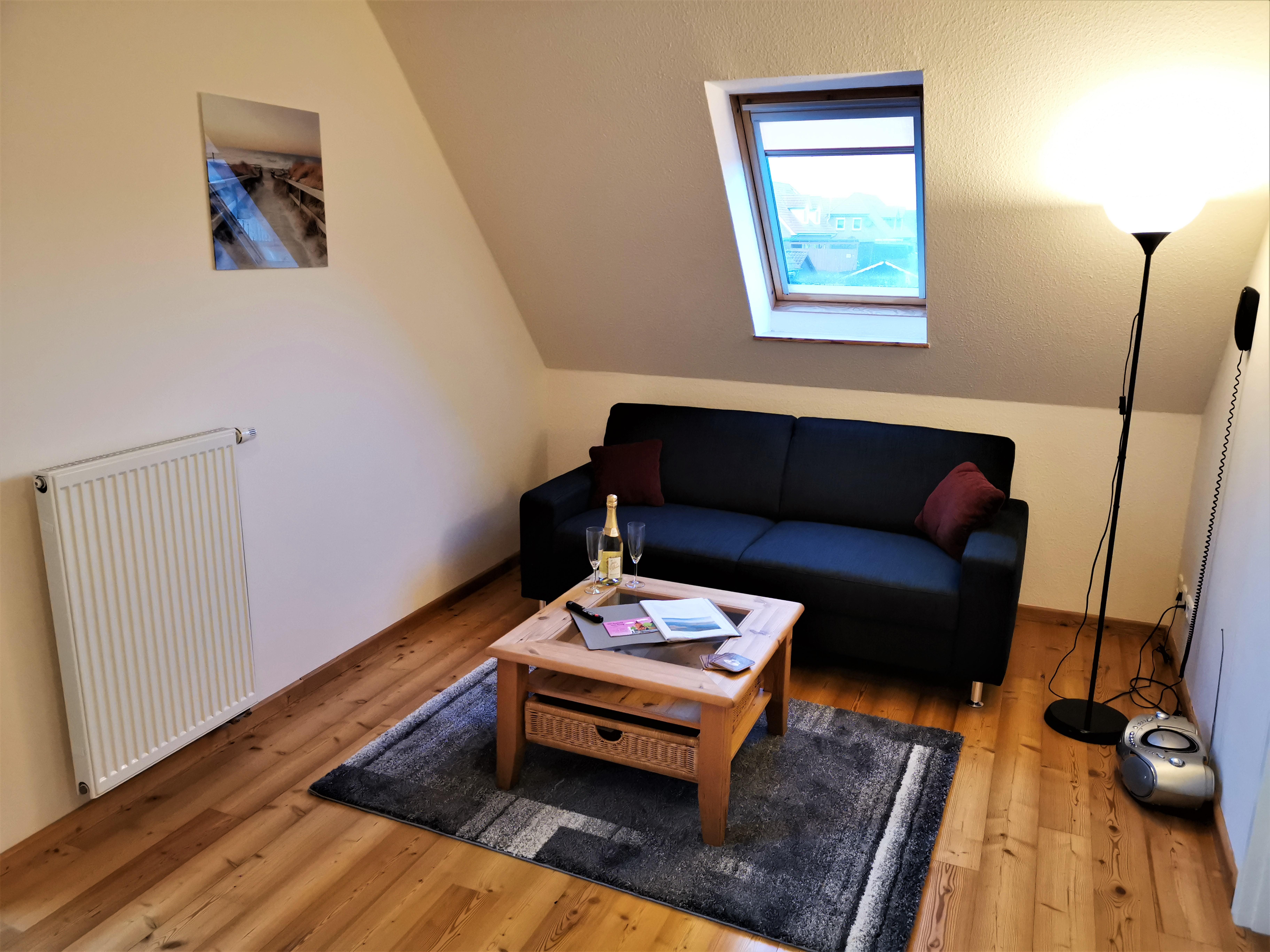 Wohnzimmer der Ferienwohnung Gilge von Ferienwohnungen Hass auf Fehmarn