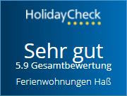 Auszeichnung von HolidayCheck 2019 Weiterempfehlung von Ferienwohnungen Hass auf Fehmarn