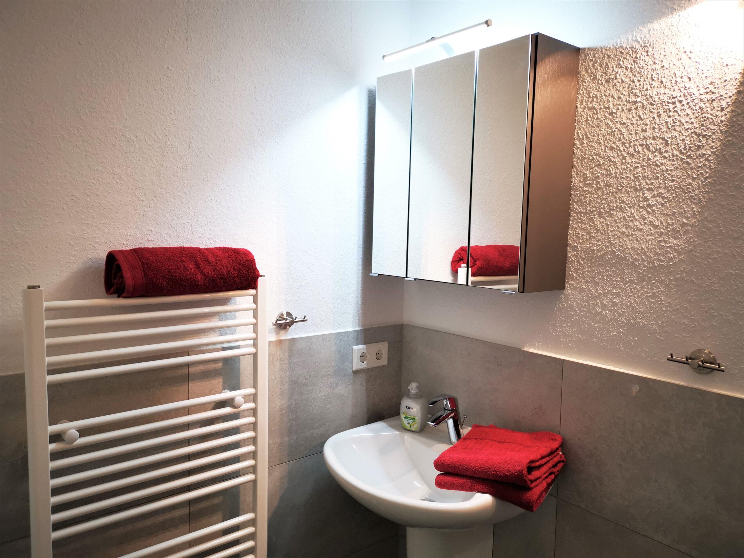 Badezimmer der Ferienwohnung Fehmarn von Ferienwohnungen Hass auf Fehmarn